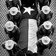 The coffin of former Texas Governor John Connally is removed from the State Capitol by Department of Public Safety troopers in Austin, Texas (TX)...Photo by Khue Bui