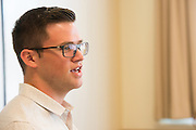 Photographs of the Ohio University College of Business hosting the Microsoft Pitch Challenge at Tupper Hall on the Ohio University campus in Athens, Ohio on Friday, September I I, 2015. <br /> [Photograph by Joel Prince]