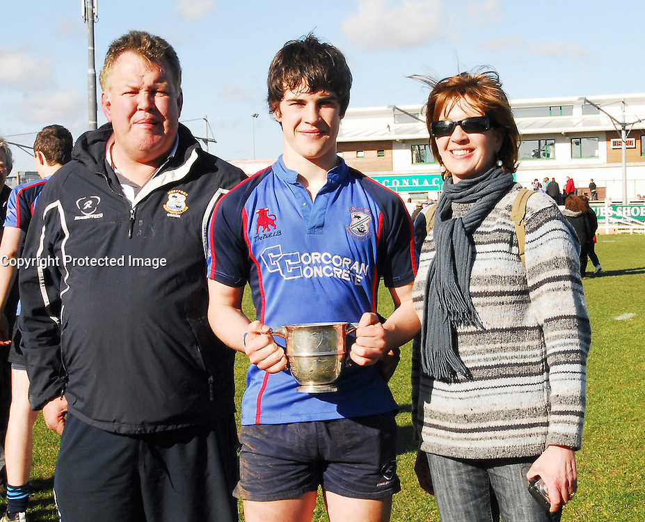 Joe, Dwyane and Jill Corcoran...Pic Conor McKeown