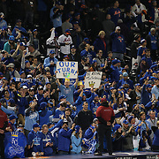Kansas City Royals fans celebrate winning the World Series during the New York Mets Vs Kansas City Royals, Game 5 of the MLB World Series at Citi Field, Queens, New York. USA. 1st November 2015. Photo Tim Clayton