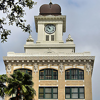 Old City Hall Clock Tower in Tampa, Florida<br />