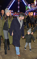 SIMON COWELL, LAUREN SILVERMAN and their son ERIC at the Hyde Park Winter Wonderland - VIP Preview Night, Hyde Park, London on 17th November 2016.