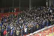 Dundee fans - Aberdeen v Dundee, Ladbrokes Premiership at Pittodrie<br /> <br />  - &copy; David Young - www.davidyoungphoto.co.uk - email: davidyoungphoto@gmail.com