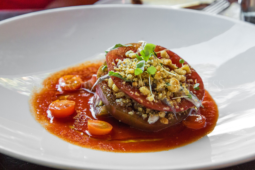 Ad Hoc Tomato Salad, Napa Valley, Yountville Restaurant, lifestyle photography