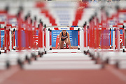 Laura Valette (FRA) competes on Women's 100 m Hurdles semifinal during the Jeux Mediterraneens 2018, in Tarragona, Spain, Day 6, on June 27, 2018 - Photo Stephane Kempinaire / KMSP / ProSportsImages / DPPI