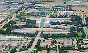 Aerial Photography of a large commercial office building complex.