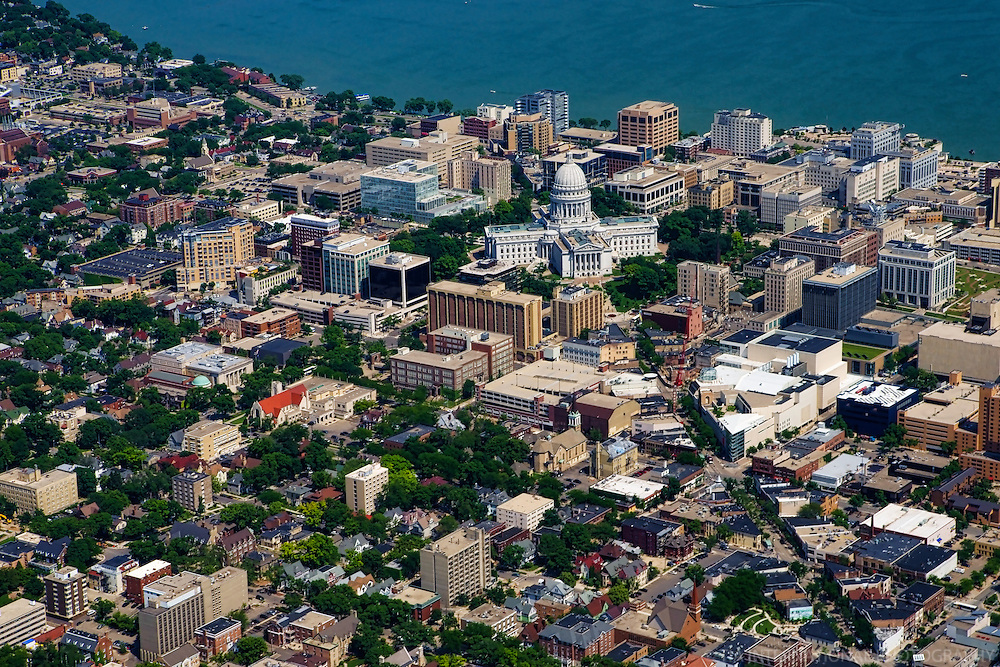 Downtown Madison featuring Wisconsin State Capitol