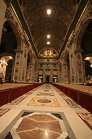 St Peters Basilica Cathedral Interior The Vatican Rome Italy