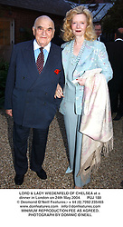 LORD & LADY WIEDENFELD OF CHELSEA at a dinner in London on 24th May 2004.PUJ 188
