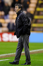 Wolves Manager Dean Saunders (WAL) shouts from the touch line during the second half of the match - Photo mandatory by-line: Rogan Thomson/JMP - Tel: Mobile: 07966 386802 26/01/2013 - SPORT - FOOTBALL - Molineux Stadium - Wolverhampton. Wolverhampton Wonderers v Blackpool - npower Championship.