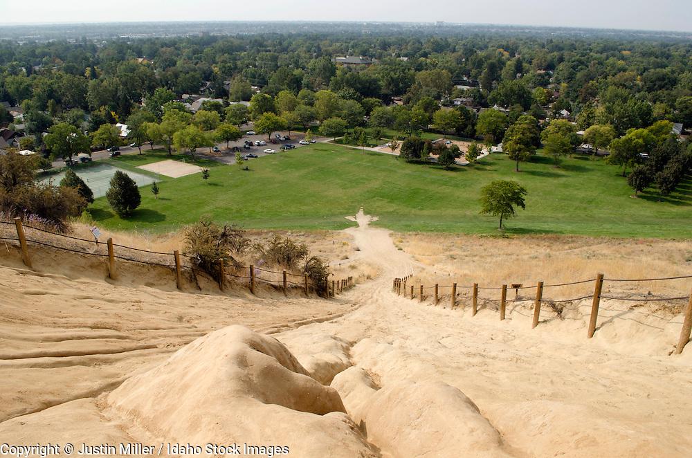 Camel's Back Park, Boise, Idaho. Looking toward Hyde Park. Later Summer.