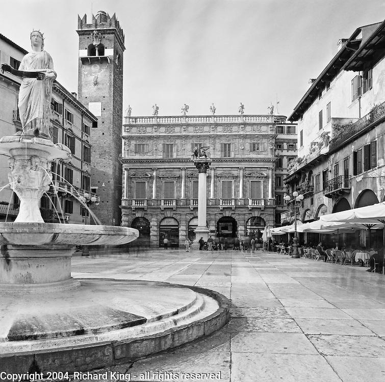 Piazza Erbe, Verona, Italy
