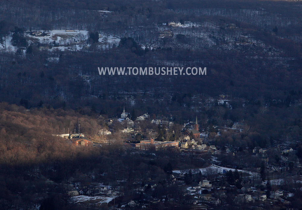 Cornwall, New York - A view the village of Cold Spring from Butter Hill in Storm King State Park on Feb. 20, 2010