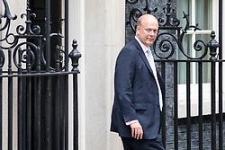 © Licensed to London News Pictures. 21/09/2017. London, UK. Transport Secretary Chris Grayling leaving No 10 Downing Street after attending a Cabinet meeting this morning. Photo credit : Tom Nicholson/LNP