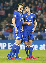February 23, 2019 - Leicester, England, United Kingdom - L-R Leicester City's Harry Maguire and Leicester City's Jonny Evans.during English Premier League between Leicester City and Crystal Palace at King Power stadium , Leicester, England on 23 Feb 2019. (Credit Image: © Action Foto Sport/NurPhoto via ZUMA Press)
