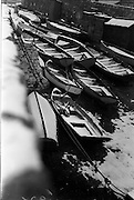 13/01/1963<br /> 01/13/1963<br /> 13 January 1963<br /> Snow scenes from Kiliney and Dun Laoghaire, Co. Dublin. View of boats on icy slipway at Dun Laoghaire.