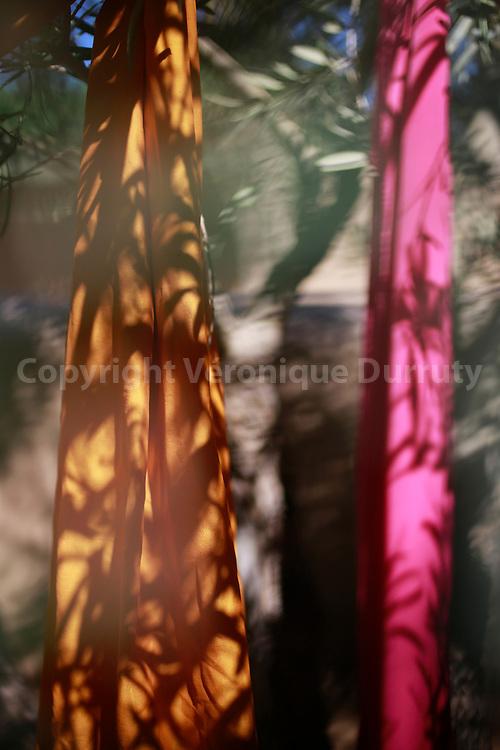 "Détail de décoration des jardins de l'Hotel ""Dar Ahlam"", Oasis de Skoura, Sud Maroc // ""Dar Ahlam"" hotel, Skoura oasis, southern Morocco"