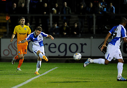 Matty Taylor of Bristol Rovers scores the first goal - Mandatory byline: Neil Brookman/JMP - 07966 386802 - 06/10/2015 - FOOTBALL - Memorial Stadium - Bristol, England - Bristol Rovers v Wycombe Wanderers - JPT Trophy