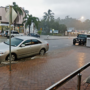 Flooding in Airlie beach in the Whitsundays.