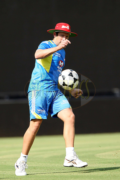Roelof van der Merwe during the Delhi Daredevils practice session held at the MA Chidambaram Stadium in Chennai, Tamil Nadu, India on the 11th May 2011..Photo by Ron Gaunt/BCCI/SPORTZPICS