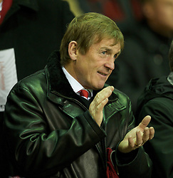 LIVERPOOL, ENGLAND - Wednesday, December 15, 2010: Liverpool legend King Kenny Dalglish sees his side take on FC Utrecht during the UEFA Europa League Group K match at Anfield. (Photo by: David Rawcliffe/Propaganda)