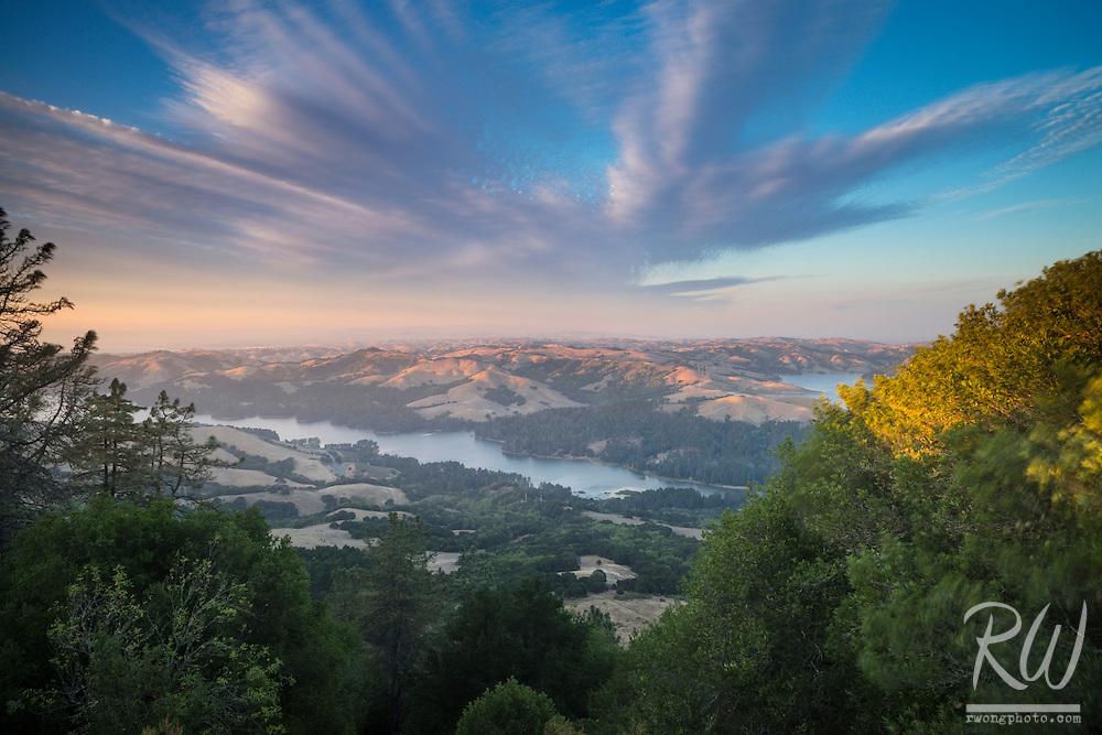 San Pablo Reservoir Scenic View From Tilden Regional Park, Berkeley Hills, California
