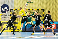 Vladyslav Ostroushko of Kadetten Schaffhausen during handball match between RK Gorenje Velenje and Kadetten Schaffhausen in VELUX EHF Champions League, on November 25, 2017 in Rdeca Dvorana, Velenje, Slovenia. Photo by Ziga Zupan / Sportida