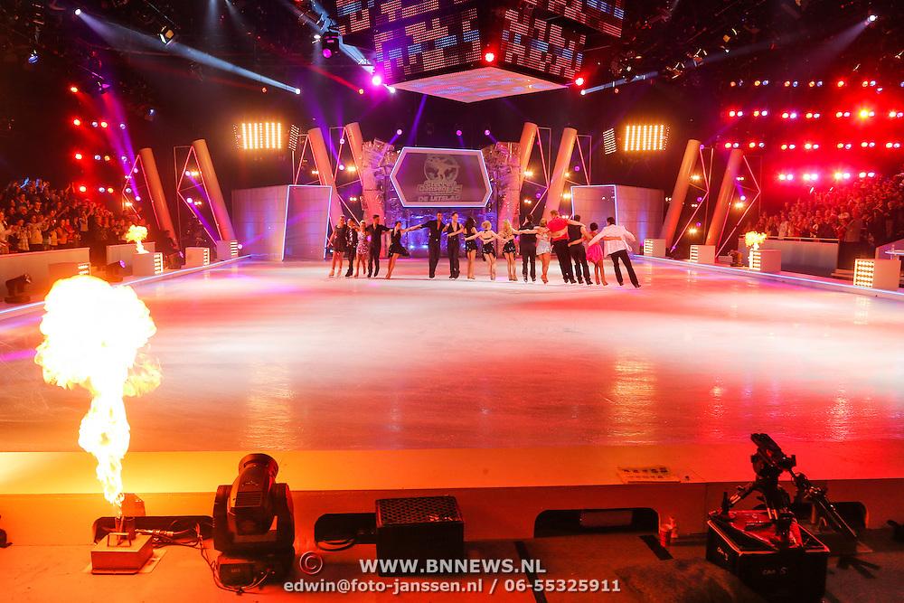 NLD/Hilversum/20130202 - 6de liveshow Sterren Dansen op het IJs 2013, overzicht studio met de ijsvloer