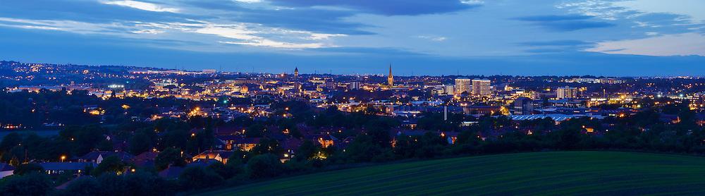 Wakefield panoramic city skyline
