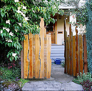 The front gate made by her partner Jeff Hilber