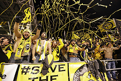 October 31, 2017 - Columbus, OH, USA - Columbus Crew supporters celebrate following a 4-1 win against New York City FC in an MLS Eastern Conference Semifinal playoff game in Columbus, Ohio, on Tuesday, Oct. 31, 2017. (Credit Image: © Adam Cairns/TNS via ZUMA Wire)