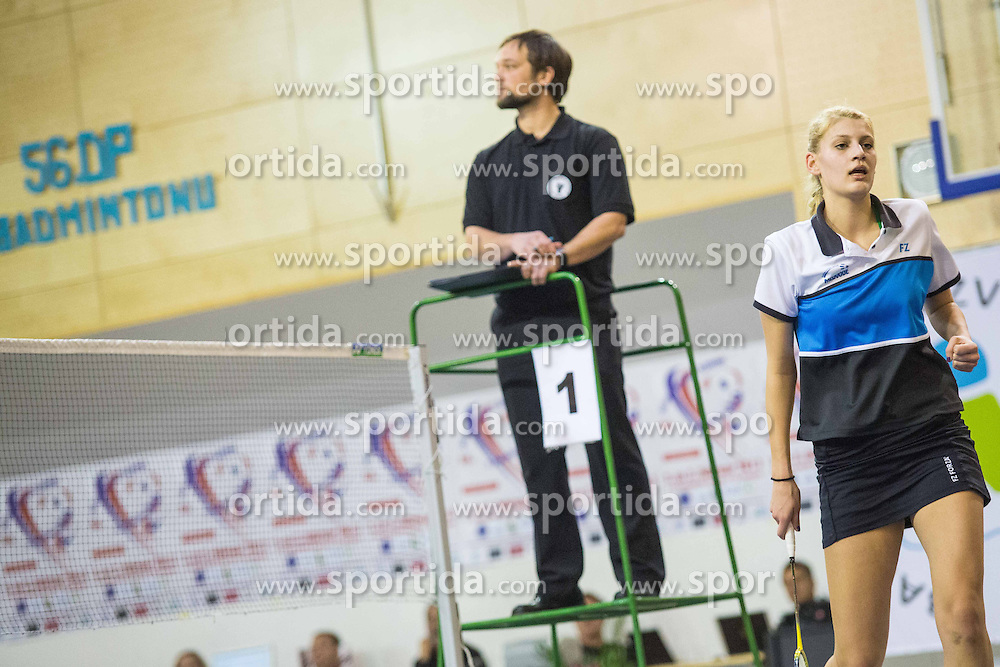Kaja Okrslar of BK Medvode during 56th Slovenian national championship in badminton on Februar  3, 2013 in Zg. Kungota, Slovenia. (Photo By Grega Valancic / Sportida)