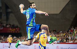 Dragan Gajic of Slovenia during handball match between National teams of Sweden and Slovenia on Day 2 in Preliminary Round of Men's EHF EURO 2016, on January 15, 2016 in Centennial Hall, Wroclaw, Poland. Photo by Vid Ponikvar / Sportida