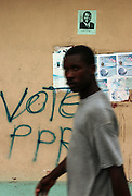 Port-au-Prince, Haiti.<br />Haiti, the western hemisphere's poorest country, faces another election. Despite not being a candidate, posters of the exiled Haitian dictator Jean-Claude &quot;Papa Doc&quot; Duvalier have started to appear around Port-au-Prince. His supporters argue that he should be allowed to return, and that the country has deteriorated since his exile.