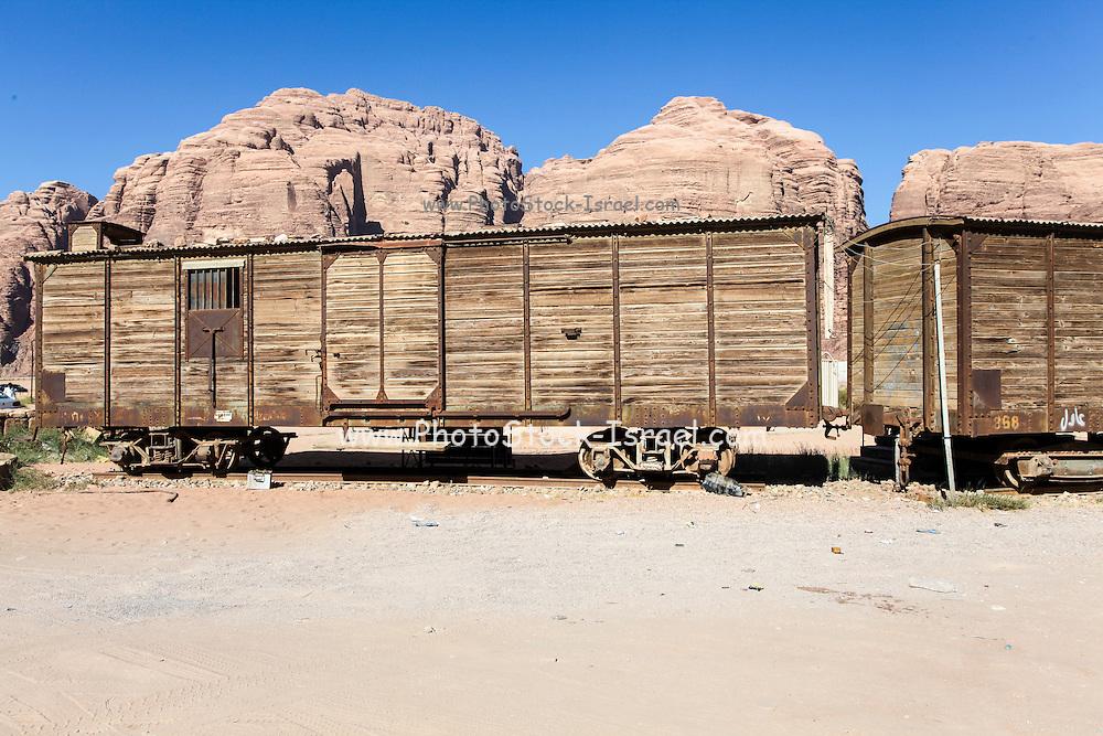 disused Hejaz Ottoman train in Jordan near Aqaba