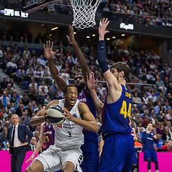 February 18, 2019 - Madrid, Madrid, Spain - Anthony Randolph during FC Barcelona Lassa victory over Real Madrid (93 - 94) in Copa del Rey 2019 game (final) celebrated in Madrid (Spain) at Wizink Center. February 17th 2019. (Credit Image: © Juan Carlos Garcia Mate/Pacific Press via ZUMA Wire)