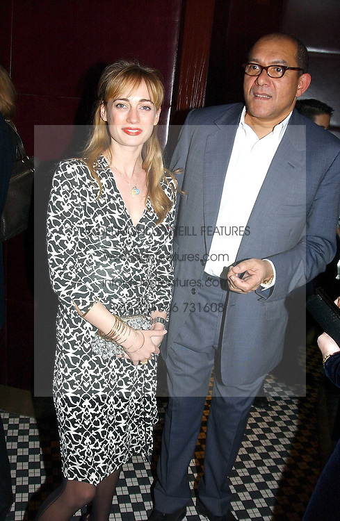 CLEMENTINE HAMBRO and BRUCE OLDFIELD at a fund raising dinner hosted by Marco Pierre White and Frankie Dettori's in aid of Conservative Party's General Election Campaign Fund held at Frankie's No.3 Yeoman's Row,¾London SW3 on 17th January 2005.<br />