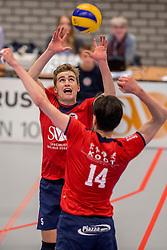 29-10-2016 NED: SV Land Taurus - Coniche Topvolleybal Zwolle, Houten<br /> Taurus wint vrij eenvoudig van Zwolle met 3-0 / Flor Polinder #5 of Taurus