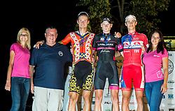 Matjaz Zevnik, Aldo Ino Ilesic of Astellas Cycling Team, Ziga Rucigaj of Radenska AS and Gasper Katrasnik of Adria Mobil at Trophy ceremony after the cycling race Night Criterium - Kranj 2016, on July 30, 2016 in Kranj, Slovenia. Photo by Vid Ponikvar / Sportida