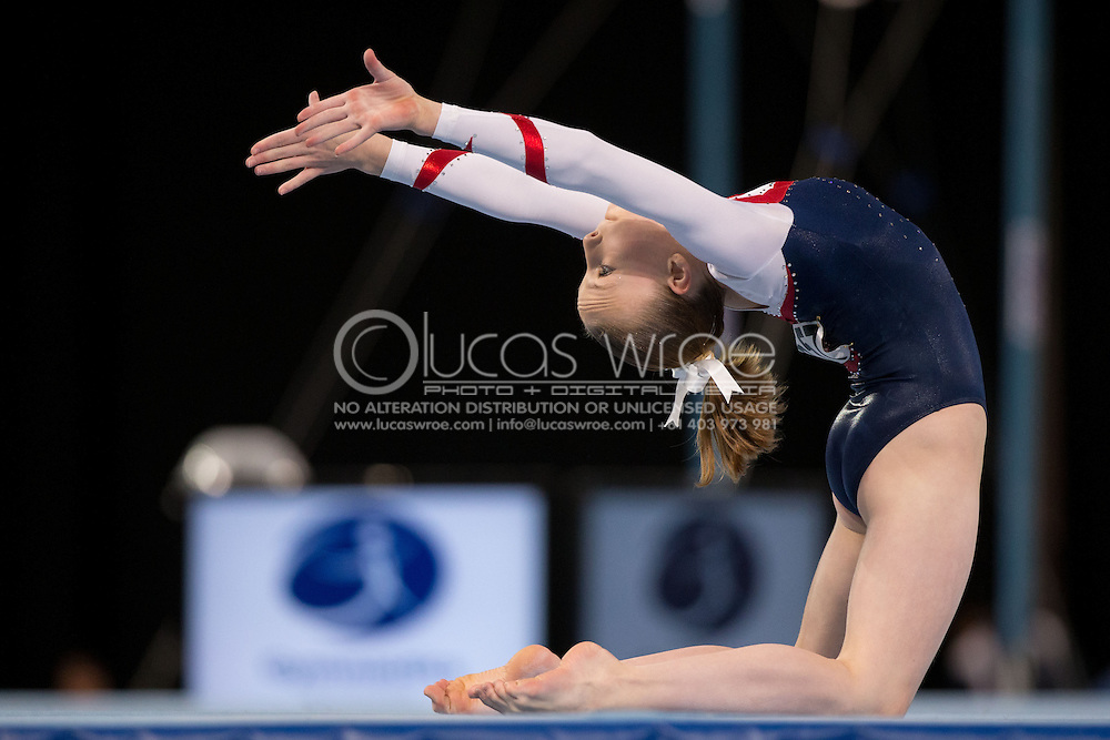 Floor, May 24, 2014 - GYMNASTICS : Australian National Gymnastics Championships, Hisense Arena, Melbourne, Victoria, Australia. Credit: Lucas Wroe / Winkipop Media
