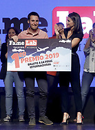 Queen Letizia of Spain attends the Final of the scientific monologue contest 'FameLab Spain 2019' at Gran Maestre Theatre on May 14, 2019 in Madrid, Spain  <br /> POOL
