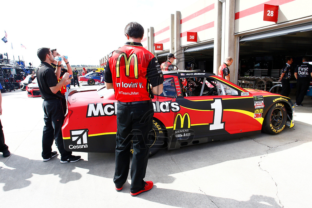 February 23, 2018 - Hampton, Georgia, USA: The Monster Energy NASCAR Cup Series teams take to the track to practice for the Folds of Honor QuikTrip 500 at Atlanta Motor Speedway in Hampton, Georgia.