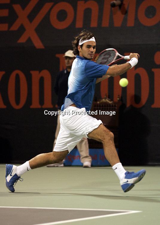 Qatar, Doha, ATP Tennis Turnier Qatar Open 2005, Roger Federer (SUI), 08.01.2005,<br />Foto: Juergen Hasenkopf