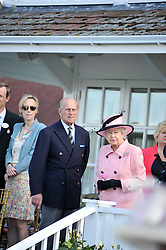 HM THE QUEEN and HRH The DUKE OF EDINBURGH at Al Habtoor Royal Windsor Cup Final 2012 at Guards Polo Club, Berkshire on 24th June 2012.