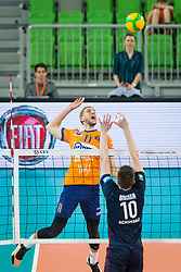 Dzirlic Petar of ACH Volley during Champions League match between ACH Volley Ljubljana and Fakel Novy Urengoy, on February 19, 2020 in Hala Tivoli, Ljubljana, Slovenia. Photo by Ziga Zupan / Sportida