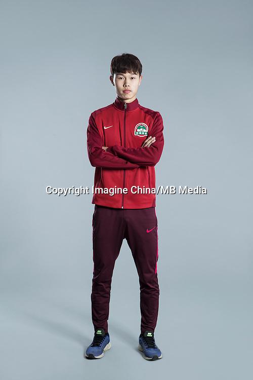 Portrait of Chinese soccer player Zhang Ziru of Henan Jianye F.C. for the 2017 Chinese Football Association Super League, in Zhengzhou city, central China's Henan province, 19 February 2017.