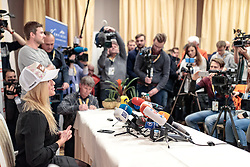 05.02.2017, St. Moritz, SUI, FIS Weltmeisterschaften Ski Alpin, St. Moritz 2017, Pressekonferenz Swiss Ski Team, im Bild Lara Gut (SUI) // Lara Gut of Switzerland during a press conference of Swiss Ski Team prior to the FIS Ski World Championships 2017. St. Moritz, Switzerland on 2017/02/05. EXPA Pictures © 2017, PhotoCredit: EXPA/ Johann Groder