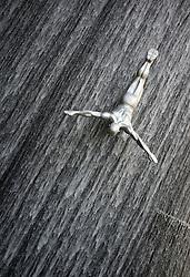 Sculpture in waterfall at Dubai Mall in Dubai in United Arab Emirates