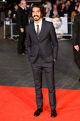 © Licensed to London News Pictures. 12/10/2016. Actor DEV PATEL attends the film premiere of LION as part of The London Film FestivalLondon, UK. Photo credit: Ray Tang/LNP