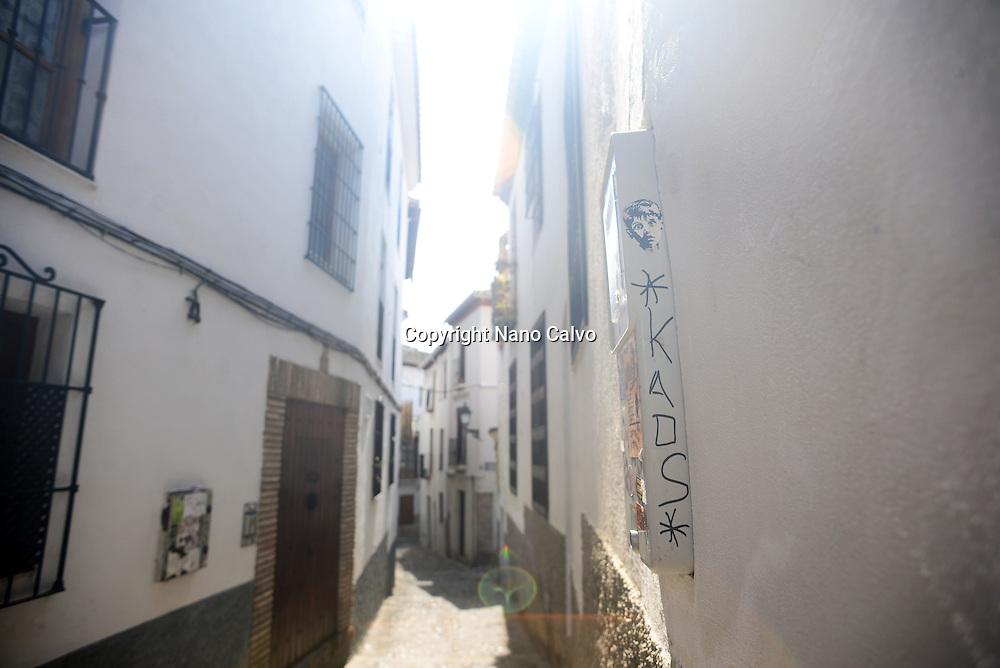 The Albaicin Quarter is the old Moorish quarter across the River Darro from the Alhambra, Granada, Spain